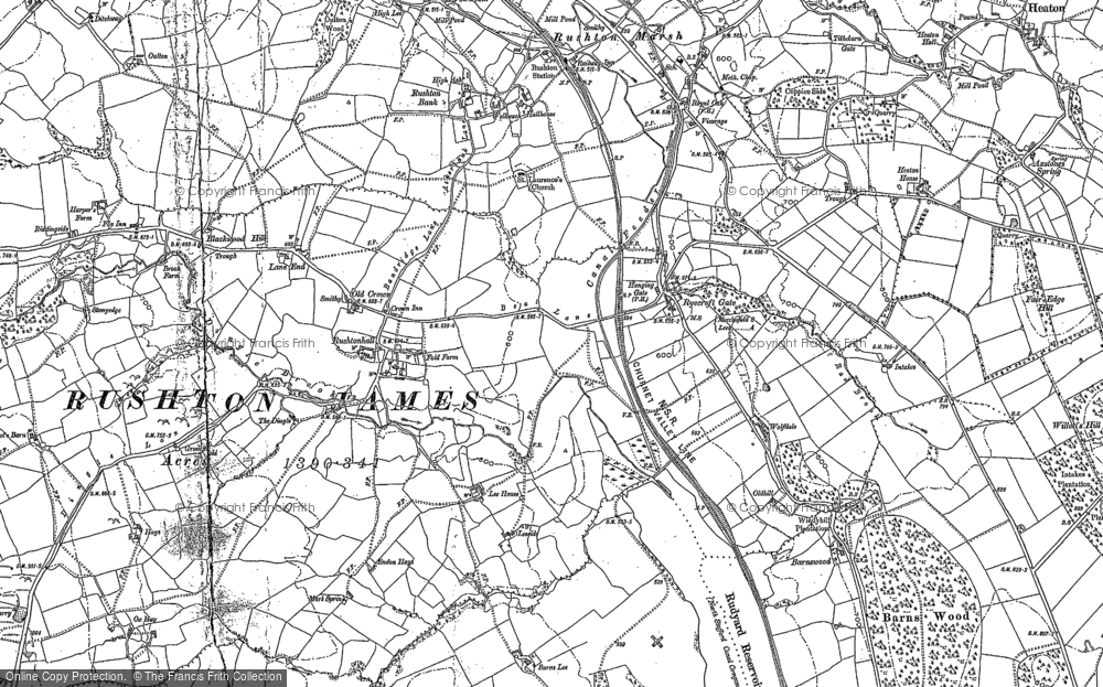 Old Map of Historic Map covering Ashmore Ho in 1898