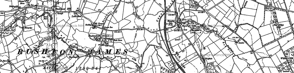 Old map of Leeside in 1898