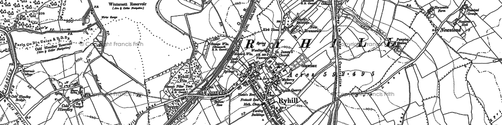 Old map of Ryhill in 1891