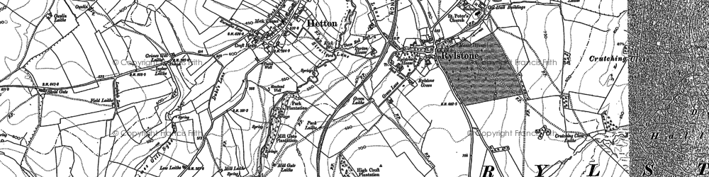Old map of Willowlands Laithe in 1907