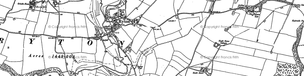 Old map of Ryton in 1881