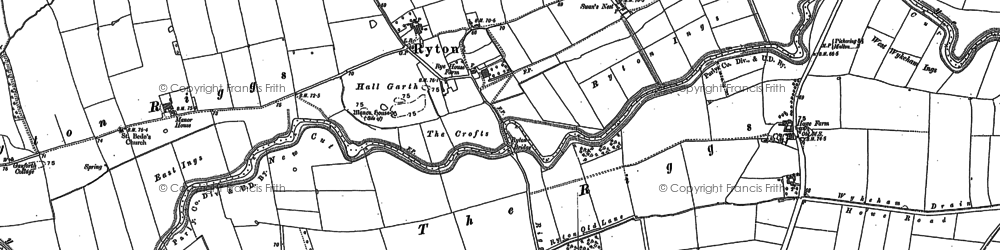 Old map of White Lily in 1889