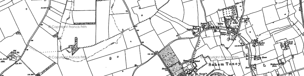Old map of White Hall in 1882