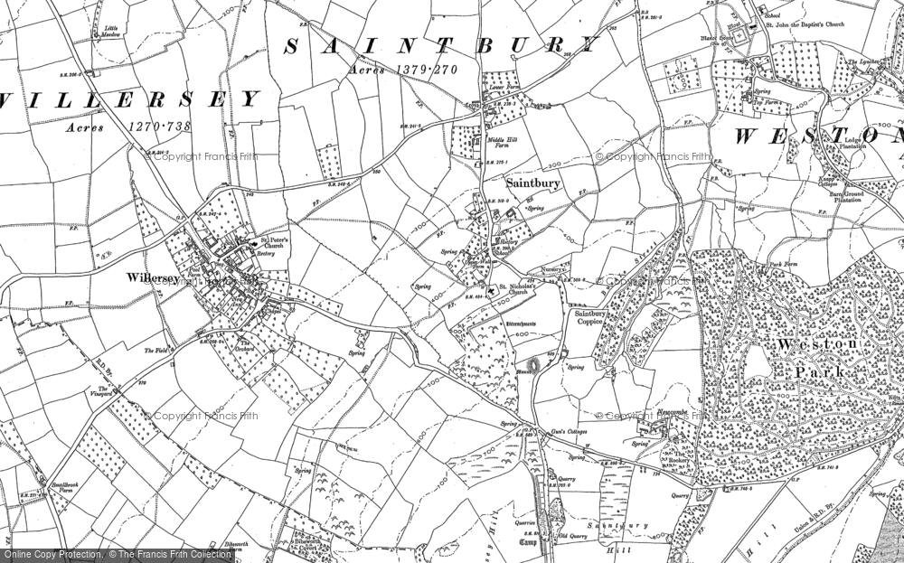 Old Map of Saintbury, 1880 - 1900 in 1880