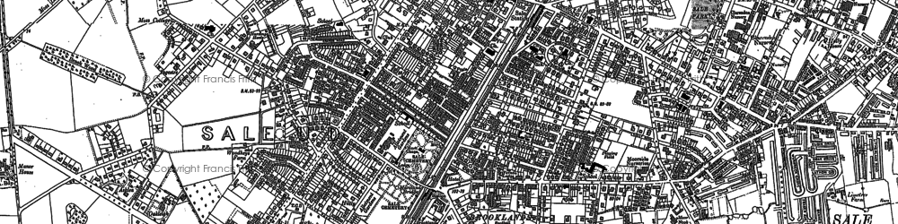 Old map of Ashton Upon Mersey in 1904