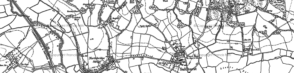 Old map of Bantony in 1897
