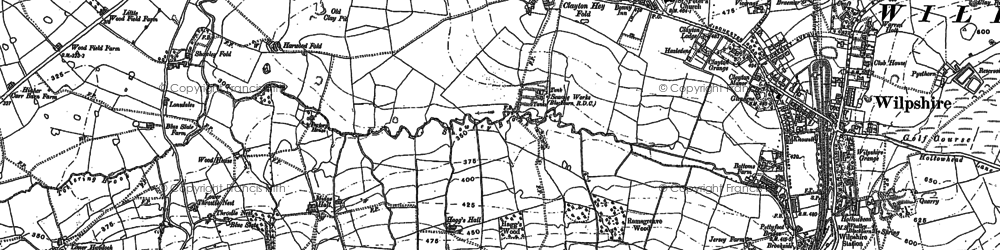 Old map of White Holme in 1892