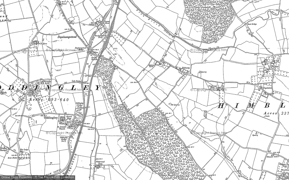Old Maps Of Saleway Francis Frith - Old maps for sale online