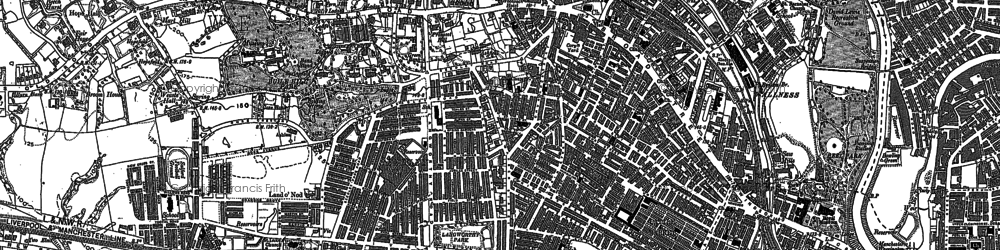Old map of Salford in 1889