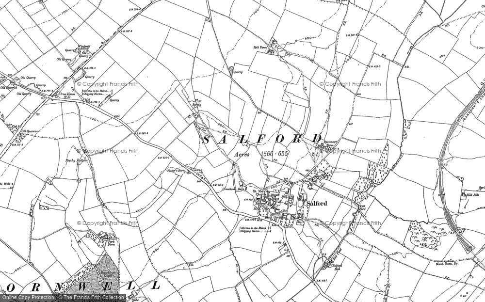 Old Map of Salford, 1898 in 1898