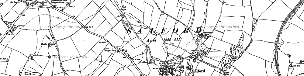 Old map of Salford in 1898