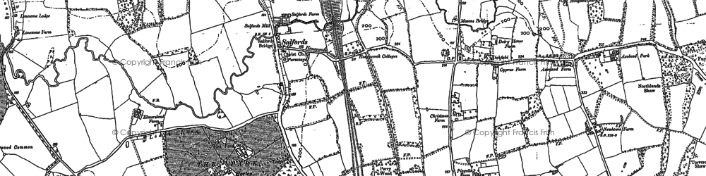 Old map of Axeland Park in 1895