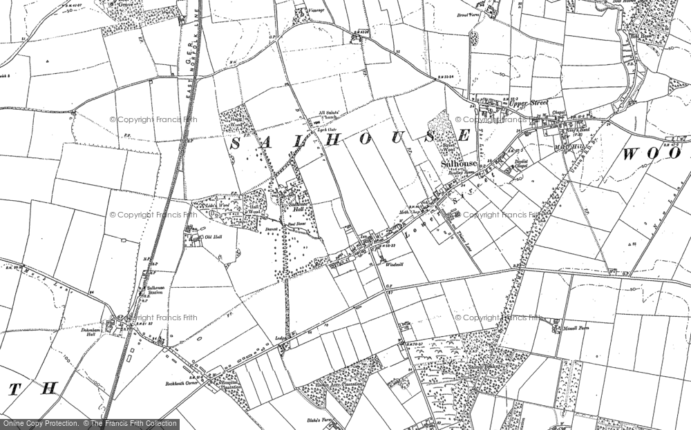 Old Map of Salhouse, 1881 in 1881