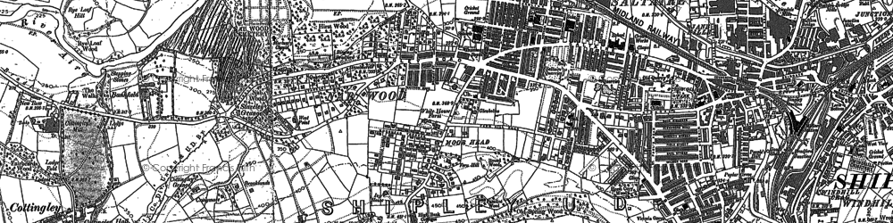 Old map of Saltaire in 1848
