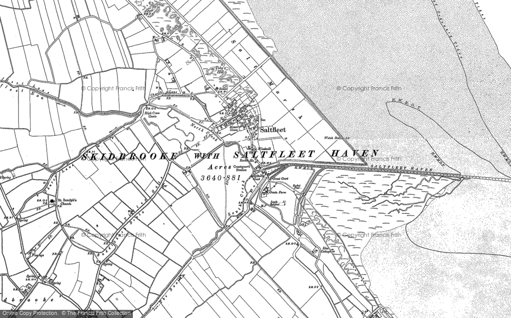 Old Map of Historic Map covering Toby's Hill in 1888