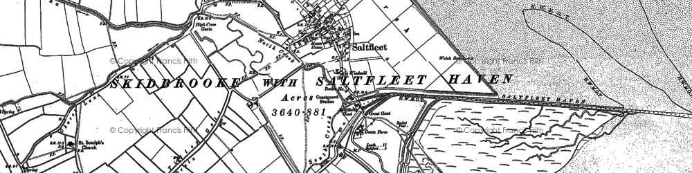 Old map of Toby's Hill in 1888