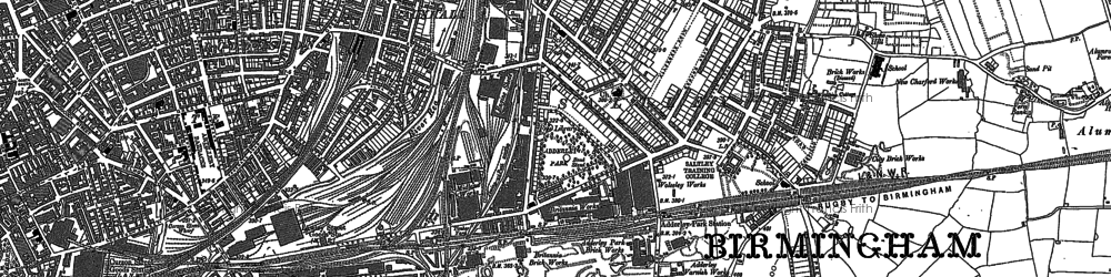 Old map of Adderley Park Sta in 1888