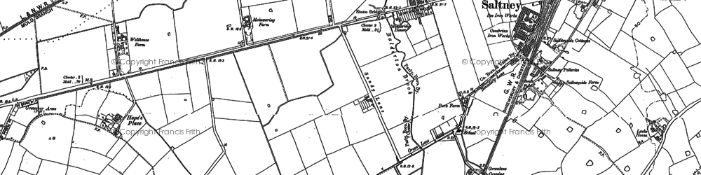 Old map of Saltney in 1898