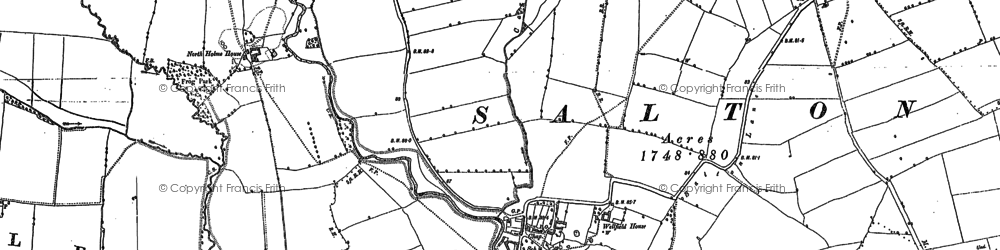 Old map of West Ness in 1890