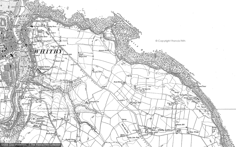 Old Map of Saltwick Bay, 1892 - 1911 in 1892