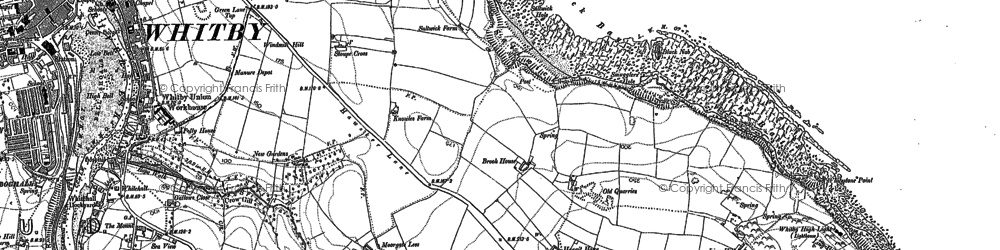 Old map of Saltwick Bay in 1892