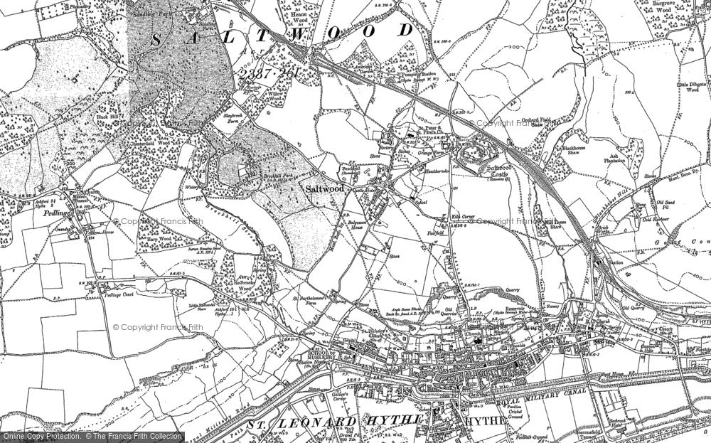 Map of Saltwood, 1906