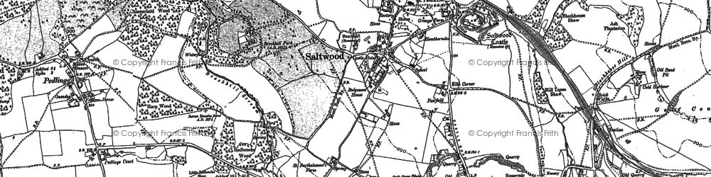 Old map of Saltwood in 1906