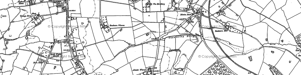 Old map of Alcester Warren in 1885
