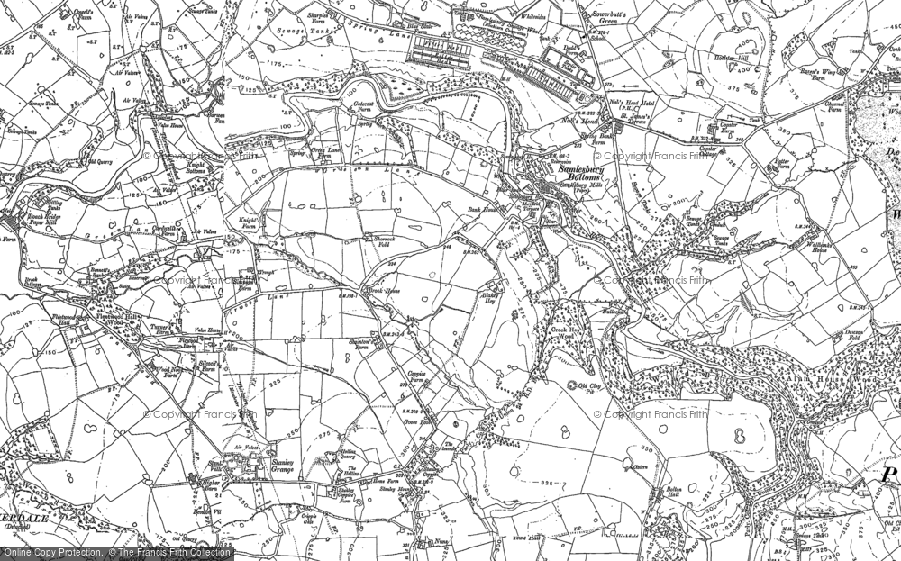 Old Map of Historic Map covering Woodfold Hall in 1892
