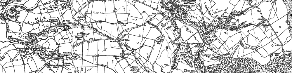 Old map of Woodfold Hall in 1892