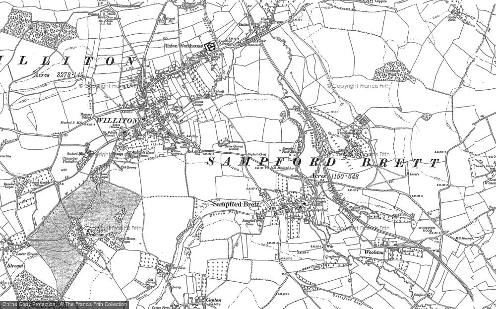 Old Map of Sampford Brett, 1886 - 1887 in 1886