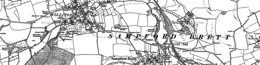 Old map of Woolston in 1886