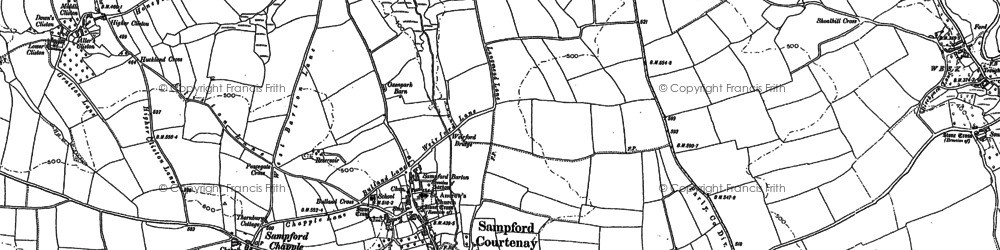 Old map of Witheybrook in 1886