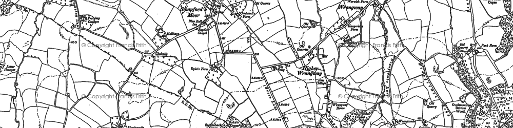 Old map of Windwhistle in 1903