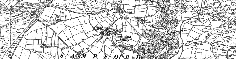 Old map of Withill in 1883