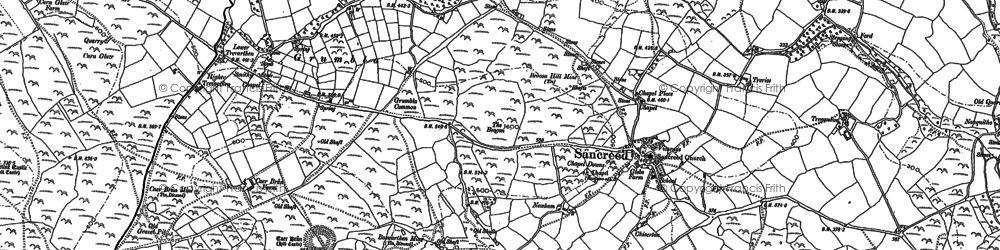 Old map of Grumbla in 1906