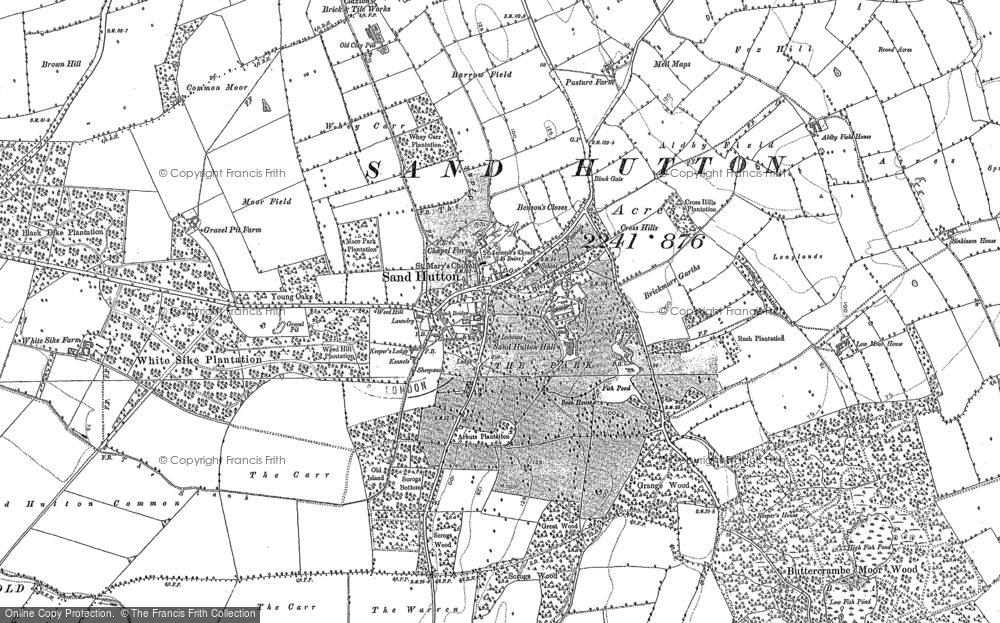 Old Map of Sand Hutton, 1891 in 1891