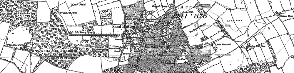 Old map of Sand Hutton in 1891