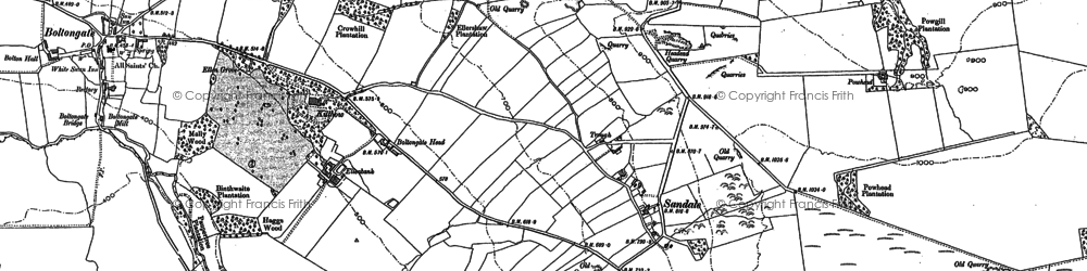 Old map of Angerton Bank in 1899