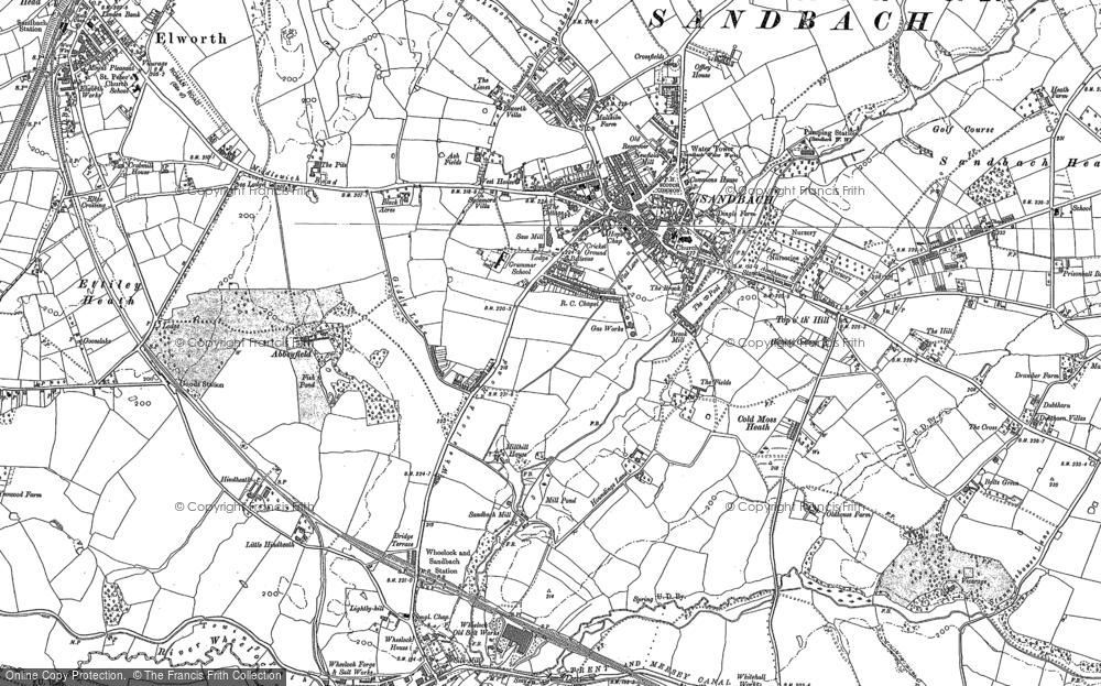 Map of Sandbach, 1897