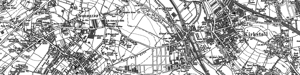 Old map of Whitecote in 1847