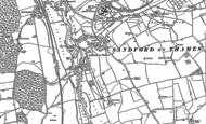 Old Map of Sandford-on-Thames, 1910