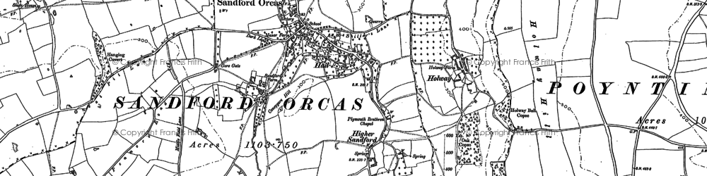 Old map of Windmill Hill in 1901