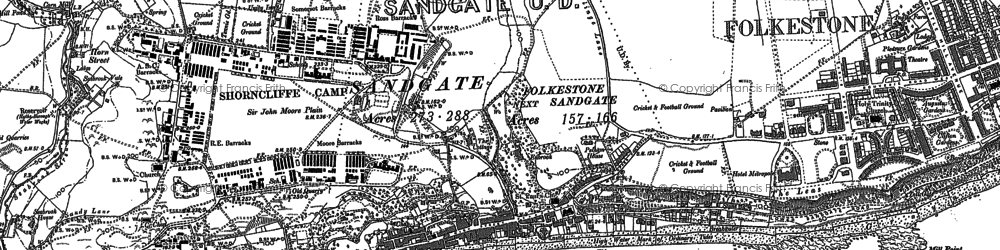 Old map of Sandgate in 1906