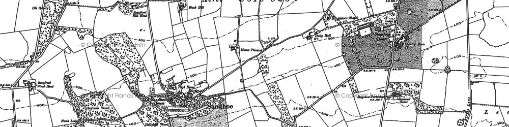 Old map of Acomb Fell in 1895