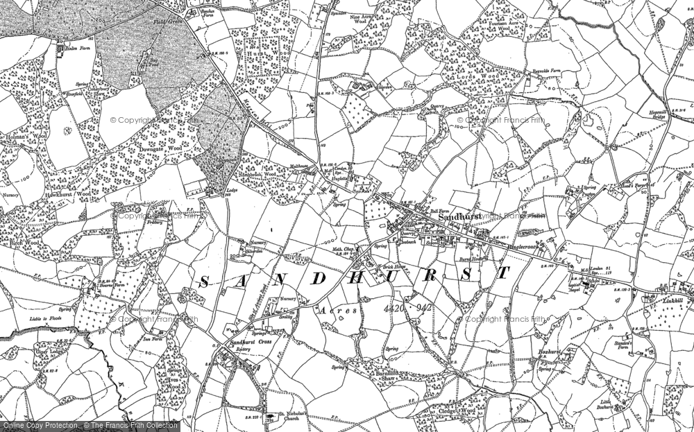 Old Map of Historic Map covering Alderden Manor in 1906