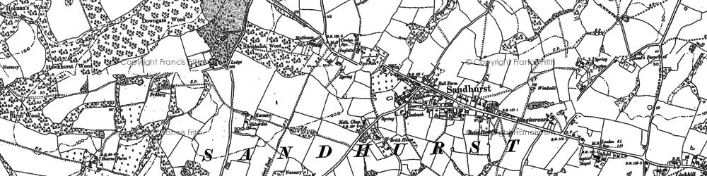 Old map of Alderden Manor in 1906
