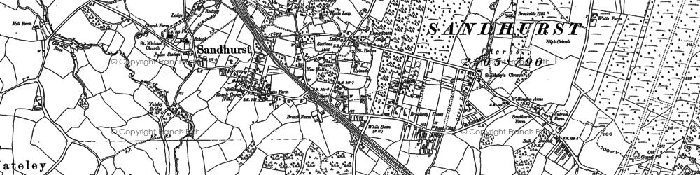 Old map of Sandhurst in 1909