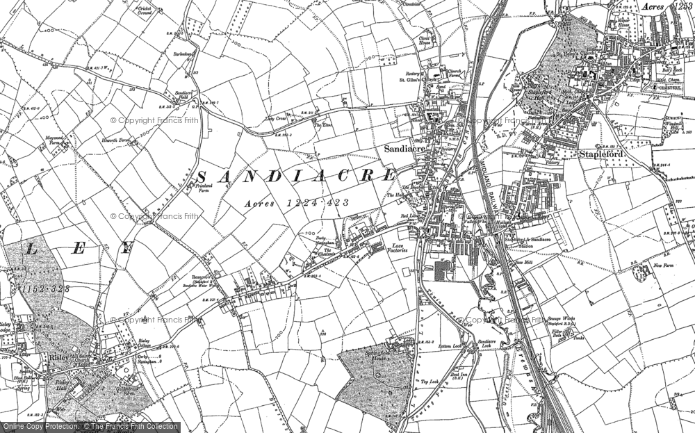 Old Map of Sandiacre, 1899 in 1899