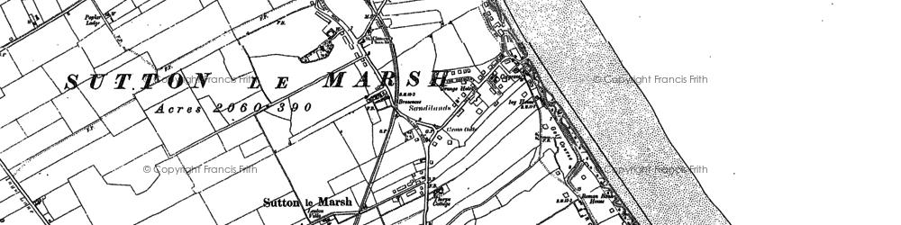 Old map of Sandilands in 1905